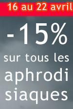 promo -15% sur tous les aphrodisiaques !