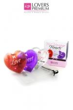 Coeurs chauffants x3 - 3 Coeurs chauds de massage, pour une intimité accrue en quelques secondes!
