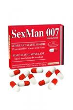 Aphrodisiaque SexMan 007 (10 gélules) - 10 Gélules aphrodisiaques pour hommes, pour booster la virilité et les performances sexuelles.