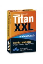 Titan XXL (2 gélules) - stimulant sexuel - Aphrodisiaque masculin pour de meilleures érections. Stimulant sexuel à effet rapide et à action prolongée. Boite de 2 gélules.