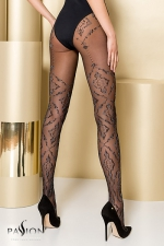 Collants TI105 - Gold Collection - Collants fantaisie en lycra 20 deniers sans démarcation, décorés de motifs baroques.