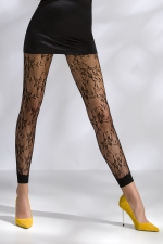 Leggings résille TI051 - noir - Leggings de charme en résille fantaisie à motifs.