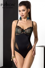 Body Floris - Un body sensuel et élégant, avec son bustier de dentelle à balconnets et ses bretelles croisées dans le dos.
