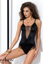 Body Brida  - Body lingerie noir scintillant, souligné de tulle transparent aux riches broderies.