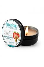 Bougie de massage vin petillant à la fraise - Amoreane - Bougie de massage qui offre un parfait environnement chaud et sensuel pour vos moments intimes. Parfum Vin pétillant à la fraise.