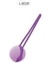 Uno Love Ball Mauve et Violet - Liebe - Love Ball en silicone premium, hyper silencieuse, idéale pour s'initier au port de boules de geisha au quotidien.