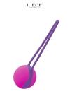 Uno Love Ball violet et fushia - Liebe - Love Ball unique couleur violet et fushia, en silicone premium, hyper silencieuse, idéale à porter au quotidien.