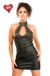 Robe Roxy - Robe faux cuir cloutée, dos nu.
