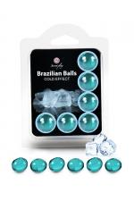 6 Brazilian Balls - effet frais - La chaleur du corps transforme la brazilian ball en liquide glissant à effet frais, votre imagination s'en trouve exacerbée.