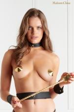 Nippies or - Maison Close - Cache-tétons dorés sensuels de la collection Les Fétiches, nouvel indispensable de votre lingerie fetish et coquine.