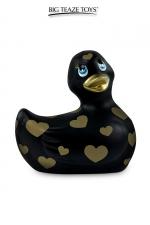 Mini canard vibrant Romance jaune et or - Déclinaison noire et or du célèbre canard vibrant dans la collection Romance.  I Rub My Duckie est désormais en version 2.0.