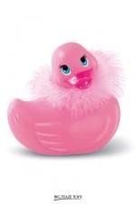 I rub my Duckie Paris - rose - La star des canards vibrants en version Strass et paillettes coloris rose et taille classique.