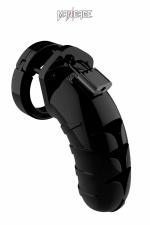 Cage de chasteté 11,5cm ManCage 04 noir - Cage de chasteté masculine noire, ajustable, longueur 11,5 cm, d'un design légèrement différent du Modèle 3 de la marque.