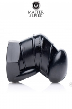 Cage de chasteté restrictive noire - Master Series - Une nouvelle version noire, plus petite et texturée à l'intérieur de la cage de chasteté souple originale de la marque Master series.