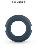 Anneau pénien silicone et acier - Boners - Cockring en silicone avec deux parties en acier à l'intérieur qui forment un anneau suffisamment souple et confortable.