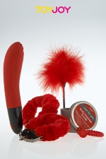 Coffret JFY luxe box No 4  - Coffret coquin Just For You No 4 avec 5 articles �rotiques sur le th�me du rouge.