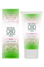 Crème de masturbation Femme - Natural CBD - Crème de masturbation pour Femme qui intensifie les sensations, à base de CBD. Flacon spray de 50 ml.