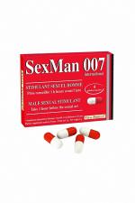 Aphrodisiaque SexMan 007 (4 gélules) - 4 Gélules aphrodisiaques pour hommes, pour booster la virilité et les performances sexuelles.