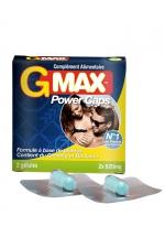 G-Max Power Caps Homme (2 gélules) - Une érection plus vigoureuse qui dure plus longtemps? G-MAX est le complément alimentaire aphrodisiaque pour hommes n1 en France.