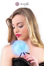 Plumeau 18 cm bleu - Secret Play - Petit plumeau coquin pour affoler ses sens avec de douces caresses par Secret Play.