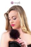 Plumeau 18 cm noir - Secret Play - Petit plumeau coquin pour affoler ses sens avec de douces caresses par Secret Play.