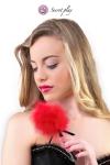 Plumeau 18 cm rouge - Secret Play - Petit plumeau coquin pour affoler ses sens avec de douces caresses par Secret Play.