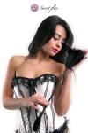 Cravache et plumeau 50 cm noir - Objet 2 en 1, plumeau en plumes naturelles colorées d'un côté et cravache en faux cuir de l'autre, fabriqué par Secret Play.