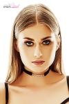 Collier strass Elin - Anaïs Lingerie - Collier tour de cou fantaisie ajustable, avec une rangée de strass montée sur un élastique noir.