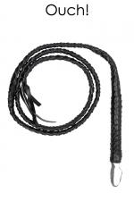 Fouet Twisted Whip - Ouch! - Magnifique fouet tressé en cuir reconstitué, longueur 194 cm, marque Ouch!.