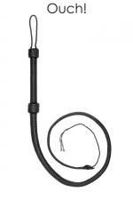 Fouet cuir Bullwhip - Ouch! - Fouet haute qualité en cuir véritable, longueur totale 190 cm, par Ouch! collection Pain.