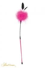 Plumeau à caresses rose - Sweet Caress - Ambiance plumes et paillettes pour ce plumeau à caresses en plumes rose permettant de stimuler les zones érogènes.