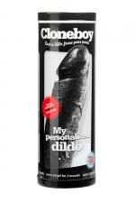 Gode personnalisable noir Cloneboy - Fabriquez très simplement La copie exacte de votre pénis en silicone noir.