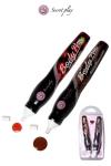 2 stylos comestibles Fraise et Chocolat - Deux stylos saveurs fraise et chocolat fabriqués par la marque espagnole Secret Play pour vos jeux érotiques.