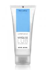 Mixgliss eau - Lub Nature 70ml - Une valeur sûre pour ce lubrifiant nature à base d'eau à l'excellent rapport qualité/prix ! format voyage 70 ml.