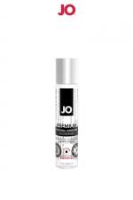 Lubrifiant premium silicone effet chaud 30 ml - Le lubrifiant intime Jo Premium est fabriqué à base de silicone, il est doux et soyeux et, résiste à l'eau. Effet chauffant, 30ml.