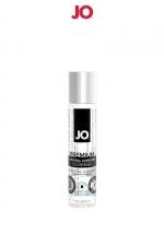 Lubrifiant premium silicone effet frais 30 ml - Le lubrifiant intime Jo Premium est fabriqué à base de silicone, il est doux et soyeux et, résiste à l'eau. Effet frais, 30ml.