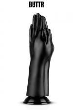 Gode géant Double Trouble - BUTTR - Gode géant (diamètre de 5,7 à 9,1 cm) spécial fist-fucking en PVC, reproduisant 2 mains jointes en prière.