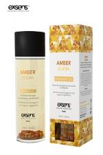 Huile massage BIO Ambre Jojoba - Exsens - huile de massage harmonisante certifiée Bio à l'Ambre et au Jojoba, par Exsens.