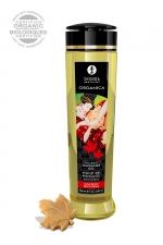 Huile de massage BIO Délice d'érable - Shunga - Huile de massage érotique BIO et embrassable au parfum de sirop d'érable par Shunga.