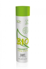 Huile de massage BIO ylang ylang - HOT - Huile de massage BIO et Végan au parfum érotique et raffiné Ylang Ylang, par HOT. Flacon de 100 ml.