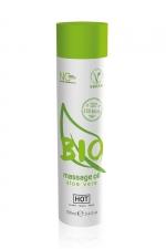 Huile de massage BIO aloe vera - HOT - Huile de massage BIO et Végan au parfum érotique et raffiné aloe vera, par HOT. Flacon de 100 ml.