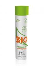 Huile de massage BIO piment de Cayenne - HOT - Huile de massage BIO et Végan au parfum érotique et raffiné piment de Cayenne, par HOT. Flacon de 100 ml.