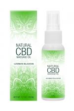 Huile de massage 50ml - Natural CBD - Huile de massage aux ingrédients naturels,  infusée au CBD, qui procure une relaxation intense et hydrate la peau.