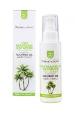 Huile de massage Bio Coco Pacifique - Divinextases - Huile de massage érotique parfum Noix de coco, 100% bio, fabriquée en France par Divinextases.