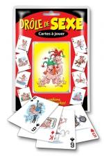 Jeu de cartes - Drole de sexe - Cartes à jouer Drôle de sexe, 54 positions sexuelles délirantes.