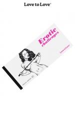 Chéquier Erotic Challenges - 20 Challenges à partager pour des moments très érotiques. Carnet dessiné par Apollonia Saintclair pour Love to Love.