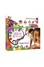 Peinture de corps comestible parfums fruités - Boite de 4 tubes de peinture comestible aux parfums fruités. Amusez-vous puis délectez-vous avec le corps de votre partenaire.