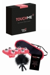 Jeu érotique TouchMe - Jeu coquin spécial sensations pour couple contenant des défis érotiques à réaliser et 3 accessoires sensuels pour vous aider.