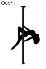 Barre de Pole Dance - Noir - Devenez la reine du strip-tease érotique avec la barre de Pole Dance noire par Ouch!.