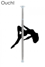 Barre de Pole Dance - Argent - Devenez la reine du strip-tease érotique avec la barre de Pole Dance couleur argent par Ouch!.